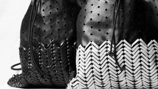 Bag detail of Mathew Nielsen and Lio de Bruin's Tote Bag. Image: Michael Currin.