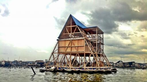 Makoko Floating School by Kunlé Adeyemi. Image: NLE