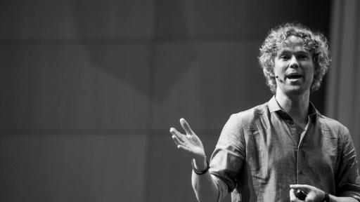 Tom Hulme on stage at Design Indaba Conference 2014. Image: Jonx Pillemer.