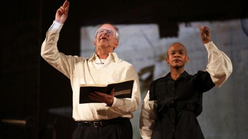William Kentridge and longtime collaborator, Dada Masilo.