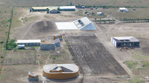 The buildings of Waterbank School in Kenyan harvest rainfall for the community