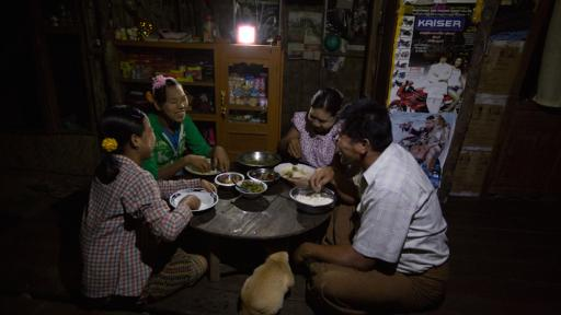 Solar energy helps rural families do more at night.
