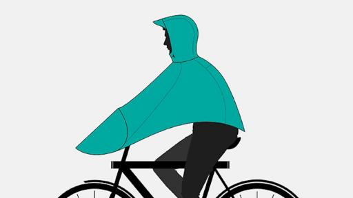 The Boncho, by VANMOOF, is a poncho designed especially for cyclists to use in the rain.