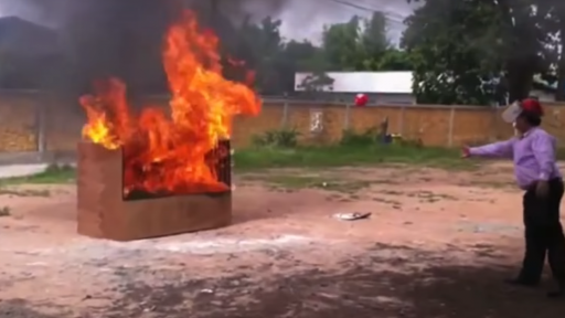An innovative way to extinguish a fire