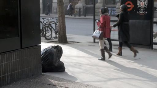 Plastic-bag sculptures critique the treatment of the homeless