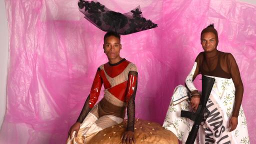 Sistaaz of the Castle: Dutch artists Jan Hoek and Duran Lantink depict transgender sex workers in bouyant fashions