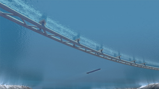 Submerged ocean tunnels rendering