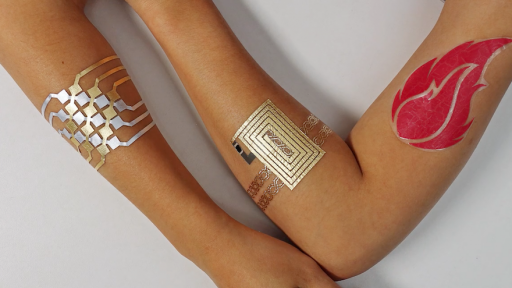 MIT have developed DuoSkin, a metallic tattoo that enables you to use your skin as an interface to control devices, receive data and communicate.