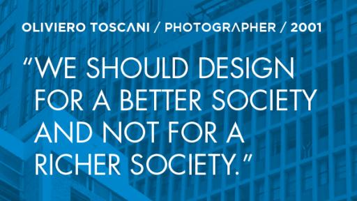 Oliviero Toscani 2001 quote