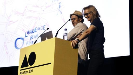 Marina Willer and Angus Hyland at AGI Open 2011