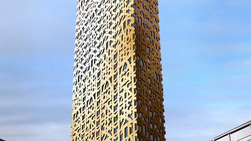 Architecture & Interiors. Trätoppen: Anders Berensson Architects is set to transform an old parking lot in Stockholm into a multi-use wooden skyscraper.