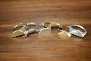 Signet rings by Long Jean Silver.