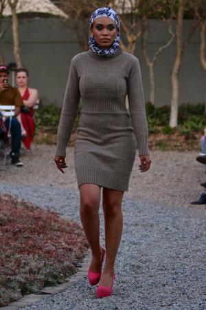 Polo Neck Sweater Dress by Fundudzi by Craig Jacobs.