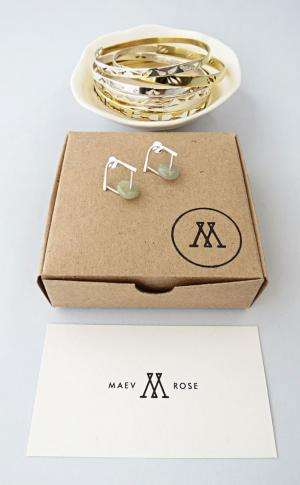 The delicate and unique pieces that make up the Maev Rose line are completely handmade and designed by Maeve Roseveare herself.
