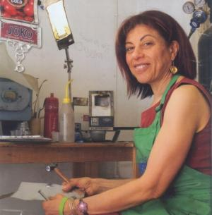 Beverley Price in her studio (2013)