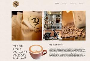 Deluxe Coffee Works website