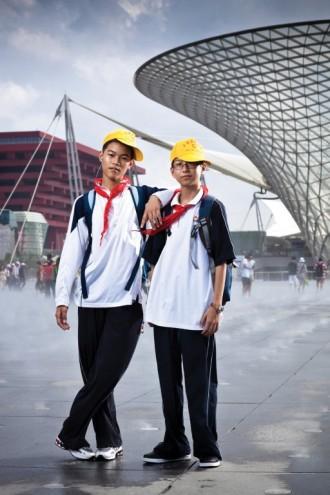 Schoolboys at the Shanghai World Expo. Photo by Patrick Wack.