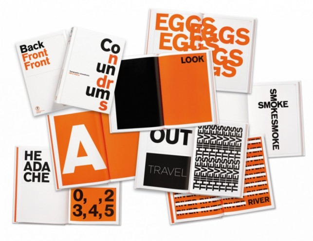 Conundrums typographic puzzles. Courtesy of Harry Pearce / Pentagram.