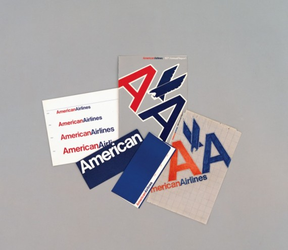 American Airlines identity and branding. Courtesy of Massimo Vignelli.