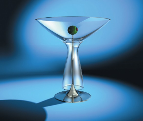 Martini glass for Bombay Sapphire by Karim Rashid