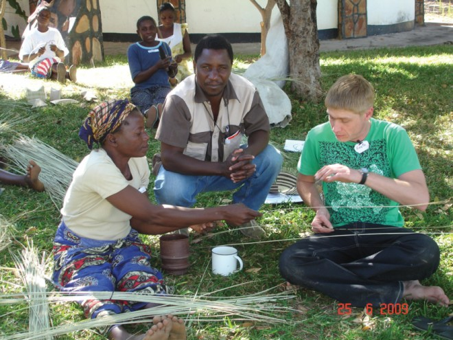 Craft workshop in Zimbabwe. Courtesy of Heath Nash.