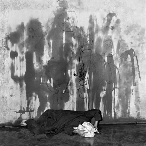 Wall Shadows, 2003. Courtesy of Roger Ballen.