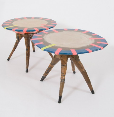 Peckham Shield table by El Ultimo Grito. RCA Campsite. © Royal College of Art.