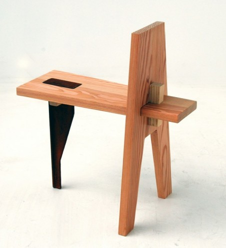 Keel stool/side table by Oscar Narud. RCA Campsite. © Royal College of Art.