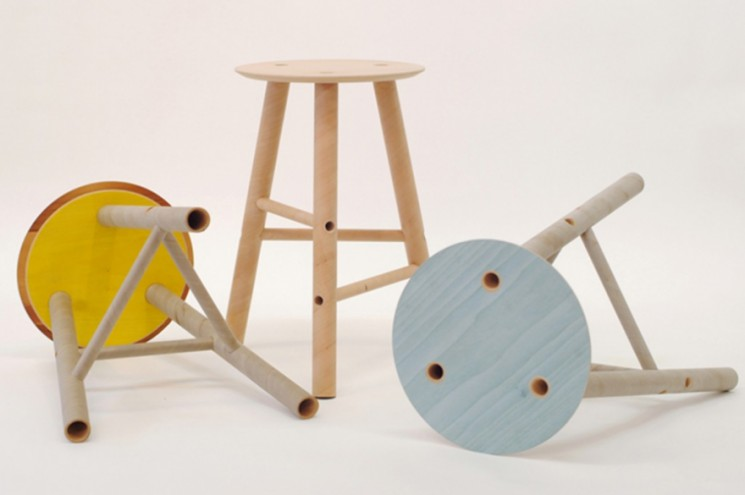 Plytube stools by Seongyong Lee. RCA Campsite. © RCA.