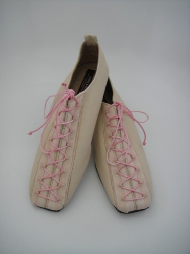Pink lace-up brogues by Coast & Koi.