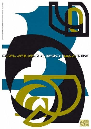 """FUSE 1 """"State"""", poster and fonts by Neville Brody."""