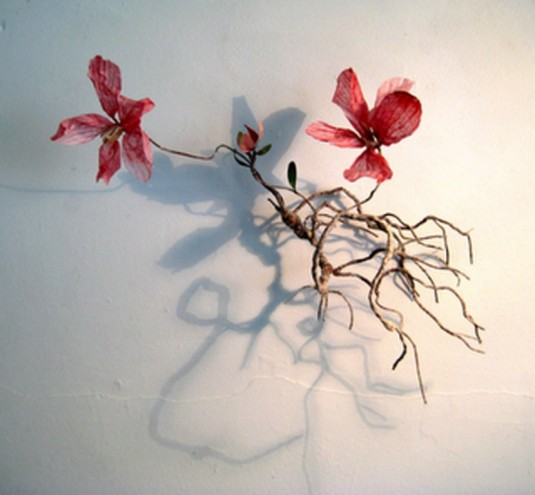 """Frail Flower"" Paper Sculpture by Rebecca Jones."
