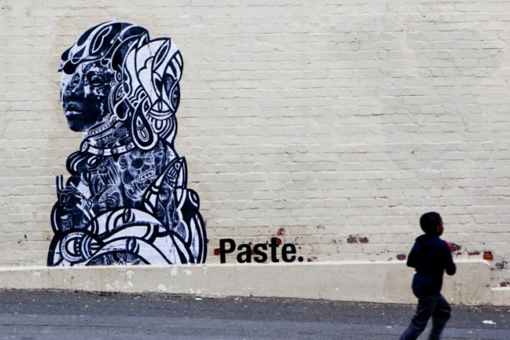 PASTE mural by Linsey Levendall.