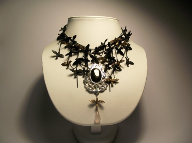 Bird Neckpiece by Eric Loubser.