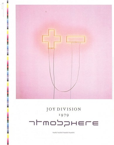 Joy Division – Atmosphere (1988). Promo poster by Factory Records. Art Direction Peter Saville, Photography Trevor Key, Typography Brett Wickens.