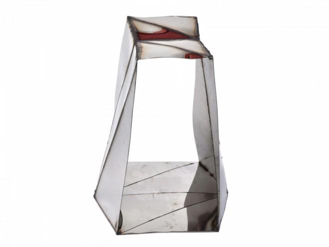Folded Mirror Stool by Julian Mayor.