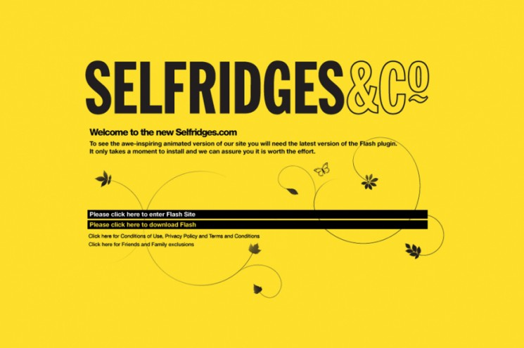 Selfridges.com website. Courtesy of Simon Sankarayya / AllofUs.
