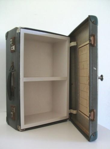 Suitcase cupboard.