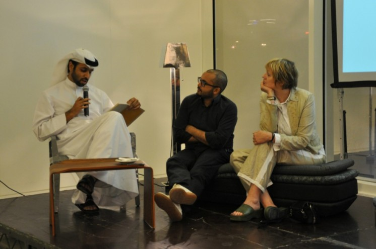 Droog al Arab panel discussion moderated by Mishaal Al Gergawi. Photo: Traffic,