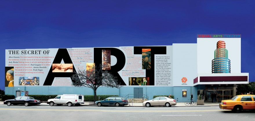 School of Visual Arts Theatre facade. Courtesy of Milton Glaser.