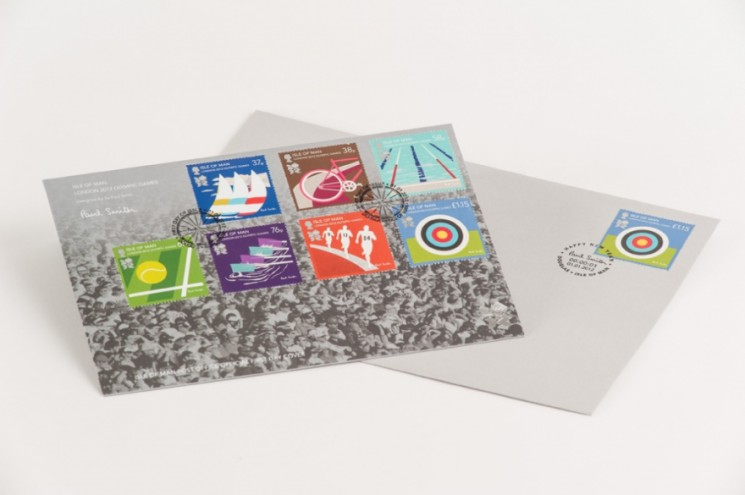 Isle of Man, London 2012 Olympic Games Stamps. Photo: Dominic French.