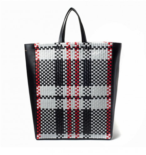 Plaid bag by Céline.