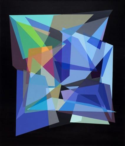 A01 84/76/15; Mixed media & spray paint on canvas; 1415 x 1215mm (framed)