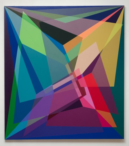 A030 89 /72 /14; Mixed media & spray paint on canvas; 1900 x 1700mm (framed)
