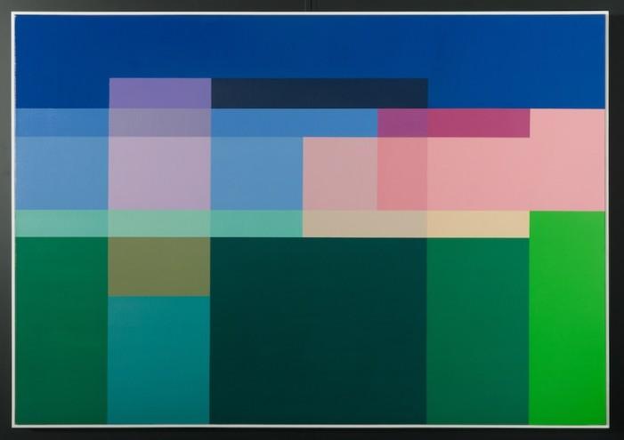 A022 2013; Spray paint on canvas; 1415 x 2015mm (framed)