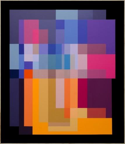A025 69 /51/14; Mixed media, acrylic & spray paint on wood; 1380 x 1200mm (framed)