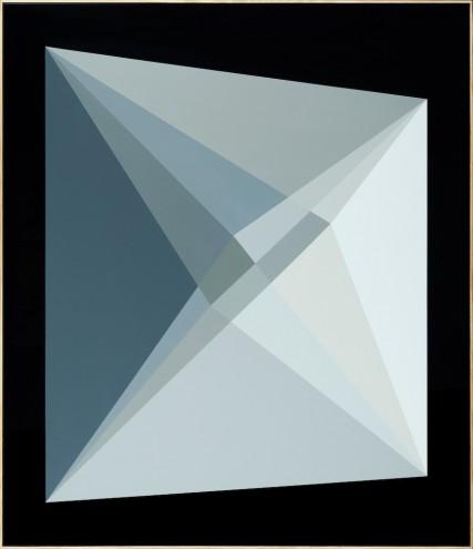A026 16/13/14; Mixed media, acrylic & spray paint on wood; 1380 x 1200mm (framed)