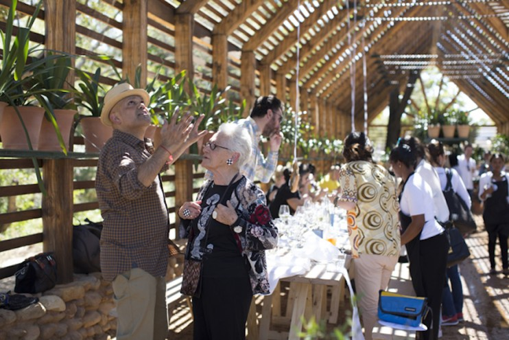 A feast for all the senses - Ravi Naidoo and Rosita Missoni at Design Indaba's Speaker lunch at Babylonstoren. Images curtesy of Adel Ferreira.