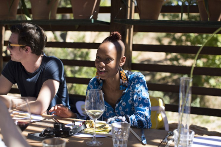 A feast for all the senses - Ng'endo Mukii at Design Indaba's Speaker lunch at Babylonstoren. Images curtesy of Adel Ferreira.