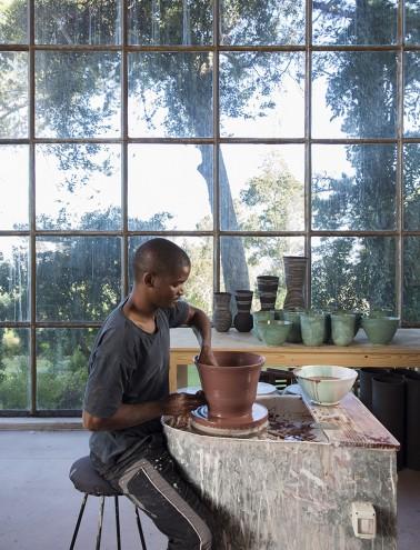 Chuma Maweni at Art in the Forest. Photo: Jac de Villiers. Stylist: Liane Visser.